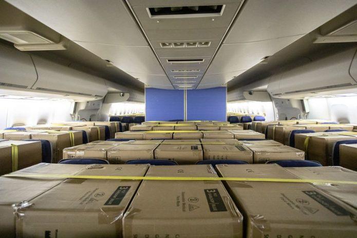 KLM Shanghai Cargo in Cabin