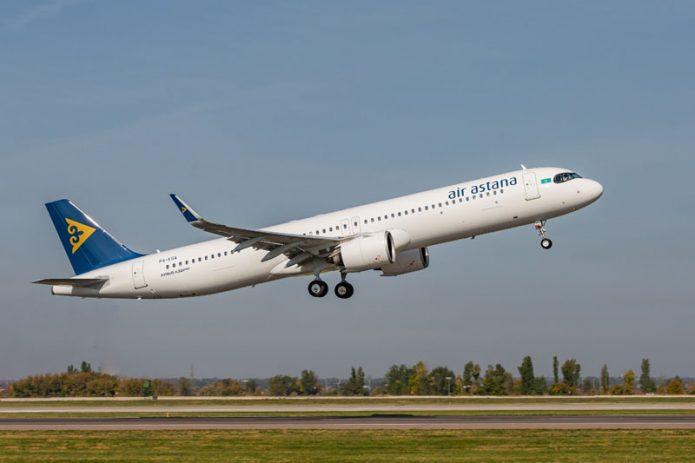 Air Astana Airbus A321LR Super Arrow Foto Air Astana