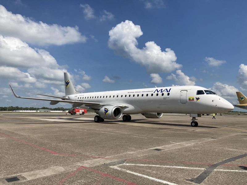 Myanmar Airways E190 Asia