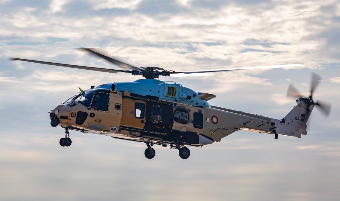 NH90 NFH Qatar 1st flight