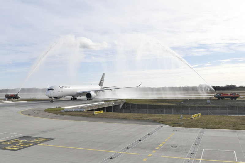 Falkland A350 Landing MUC