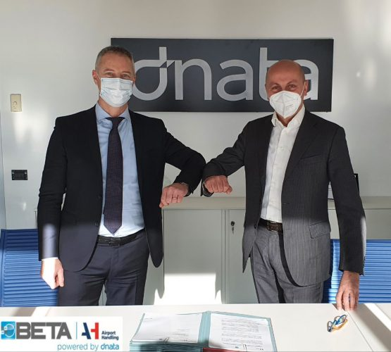 From left to right Alberto Morosi CEO of Airport Handling and Giorgio Bianculli CEO of Beta Trans