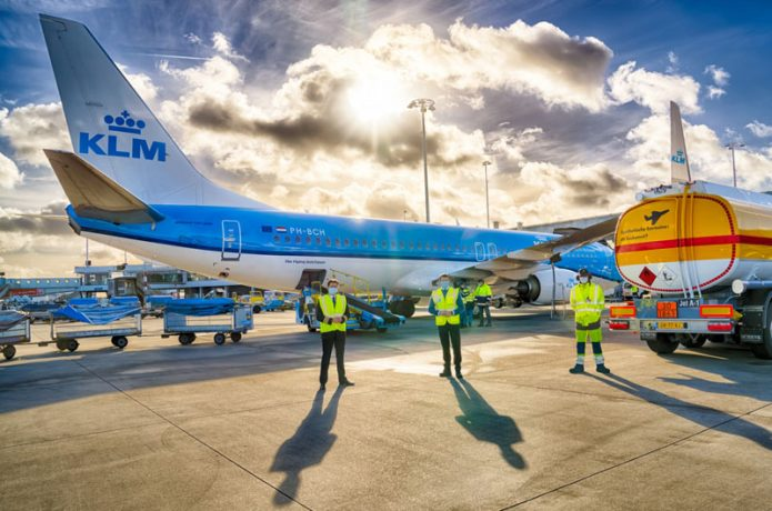 KLM Shell Amsterdam sustainable synthetic kerosene