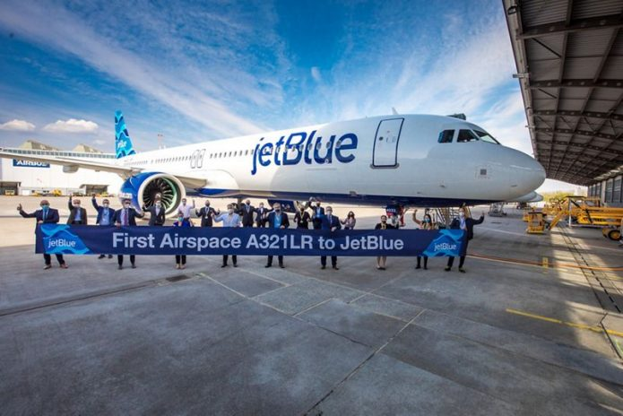 First Airspace A321LR to Jetblue