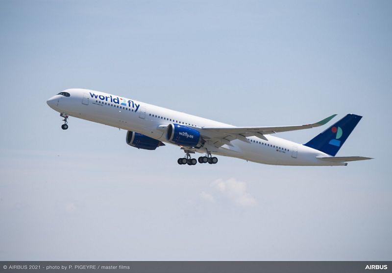 A350 900 world2fly MSN448 Ferry Flight