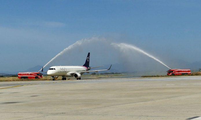 EGO Airways Cagliari Water Cannon