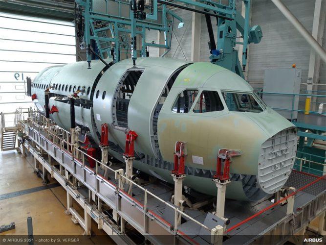 A321XLR front fuselage 2