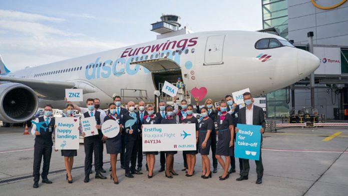 Eurowings Discover volo inaugurale